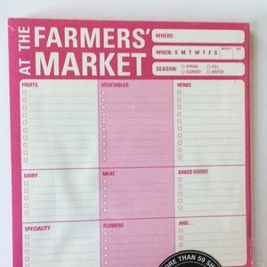 FARMER's Market Shopping List note pad MAGNETIC